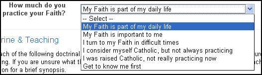 catholic dating: importance of faith