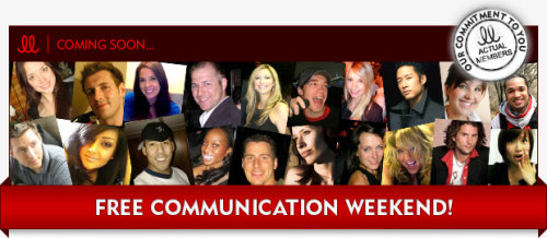 lavalife free communication weekend september